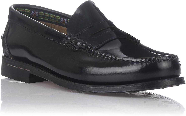 JANROSS Men's Loafer Flats black Black