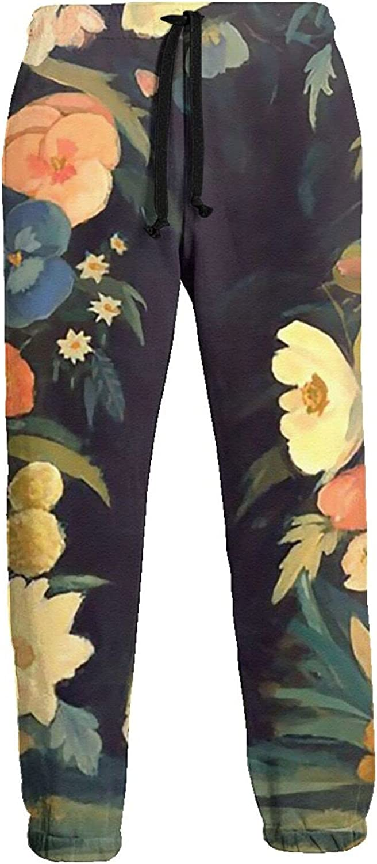 Mens Jogger Sweatpants Girl Floras Dream Lightweight Workout Athletic Joggers Pants Trousers