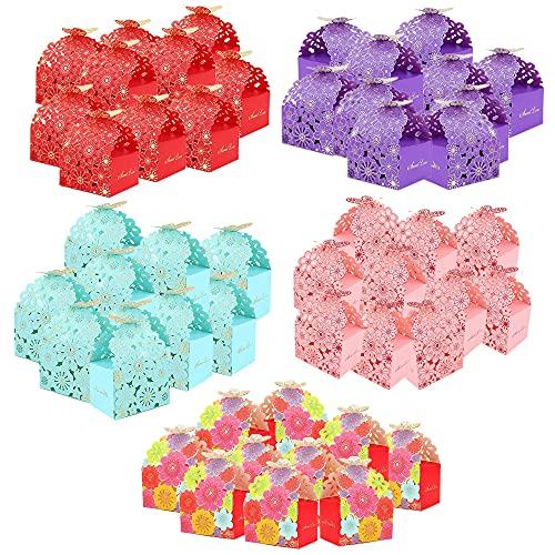 Cajas Regalos Mariposas,50 Piezas Caja Caramelos Regalo,Cajas Regalos Boda,Cajas para Dulces para...