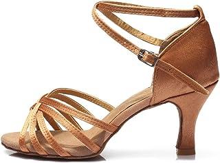 56e38562 HROYL Zapatos de Baile/Zapatos Latinos de satén Mujeres ES7-F13
