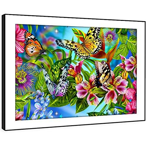BBFA246C arte enmarcado cuadro de la pared de impresión - (Multi Color arte de las...