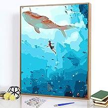 Decoración De La Paredprincipiantepintura Digitalpintura Al Óleo Pintada A Manopaisaje De Personajes 40 * 50 Cm-Big Fish Begonia B_40 * 50 Cm Sin Marco