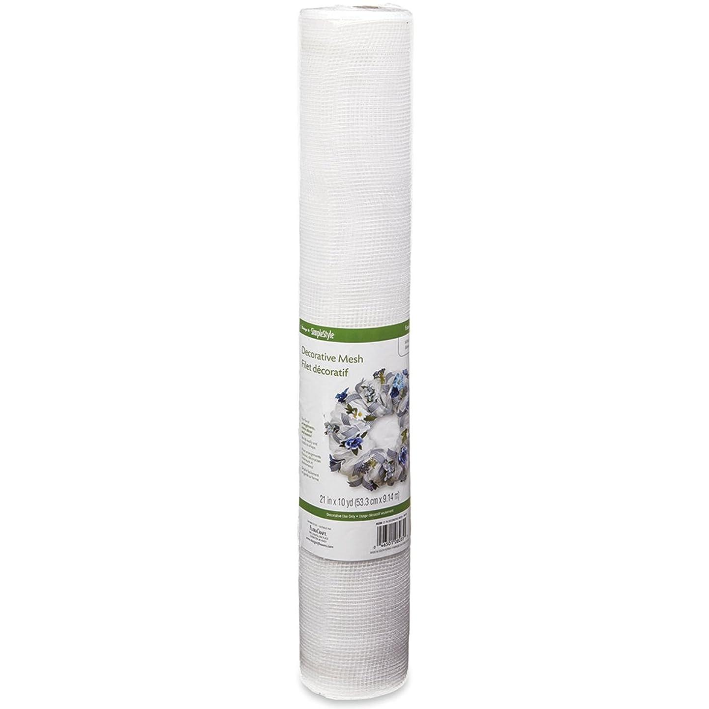FloraCraft Decorative Mesh, 21-Inch by 10-Yard Length, White qjprqtcincp9