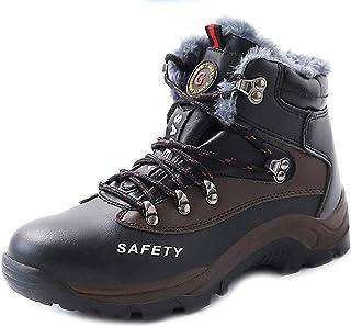 CHNHIRA Chaussure de securité Homme Femme Chaussure de Travail en Cuir Montantes&Basses Bottes