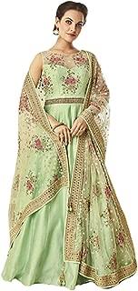 Green Muslim Silk Anarkali Suit Pakistani Party Wedding Festive Christian Long Dress Salwar Kameez Gown 718