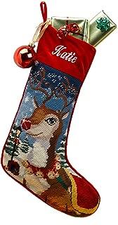 Needlepoint Christmas Stocking: Reindeer