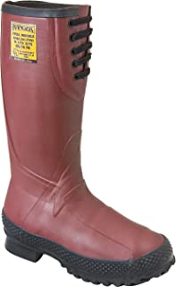 "Ranger 16"" Heavy-Duty Men's Rubber Insulated Work Boots with Steel Toe and Metatarsal Guard, Red & Black (9810)"