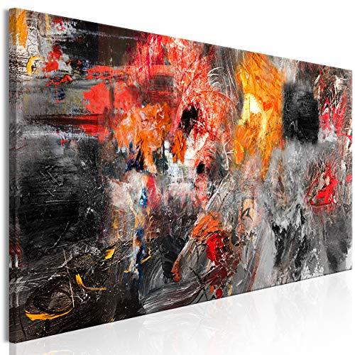 decomonkey Bilder Abstrakt 150x50 cm 1 Teilig Leinwandbilder Bild auf Leinwand Vlies Wandbild Kunstdruck Wanddeko Wand Wohnzimmer Wanddekoration Deko Modern Kunst bunt