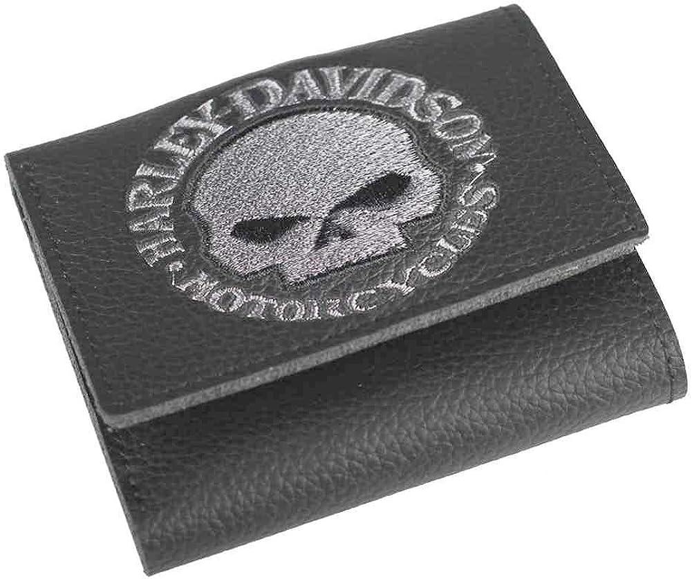 Harley-Davidson Virginia Beach Mall Men's Embroidered Willie Wallet Tri-Fold mart G Skull