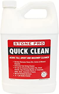 Stone Pro Quick Clean - Acidic Tile, Grout and Masonry Cleaner Concentrate - 1 Gallon