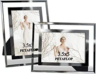 PETAFLOP 3.5x5 Picture Frames Fits 3.5 by 5 Photos Desktop Standing, Pack of 2