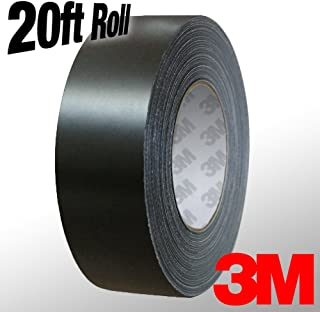 VViViD 3M 1080 Black Matte Vinyl Detailing Wrap Pinstriping Tape 20ft Roll (2 Inch x 20ft roll)