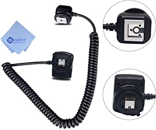 Meike MK-FA02 3M 10Ft 118 Inches TTL Off Camera MI Multi Interface Hot Shoe Flash Sync Cable Cord for Sony Camera and flash+Mcoplus Cleaning Cloth
