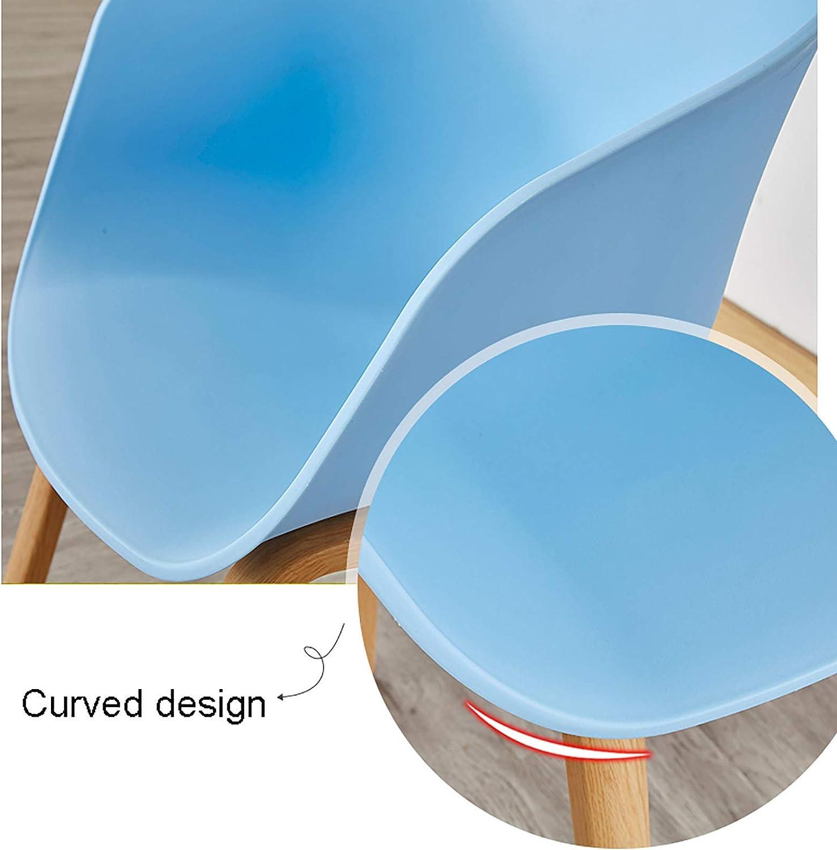 XIAOQIAO Chaises de Salle à Manger Chaise en Plastique 1 Pièce de Haute Qualité Siège Confortable de Forme Épousant avec Structure Robuste et Stable, Facile à Nettoyer Red