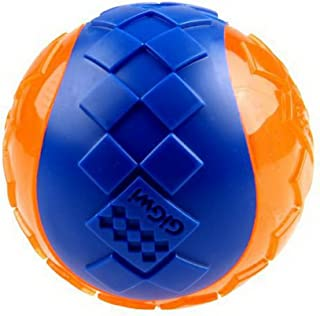 Dog Toys Ball TPR Elasticity Non-Toxic Squeaky Toy for Small Medium Dogs Blue/Orange L