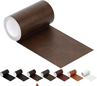 """Leather Repair Tape Patch Leather Adhesive for Sofas, Car Seats, Handbags, Jackets,First Aid Patch 2.4"""" X 15' (Brown Leather)"""