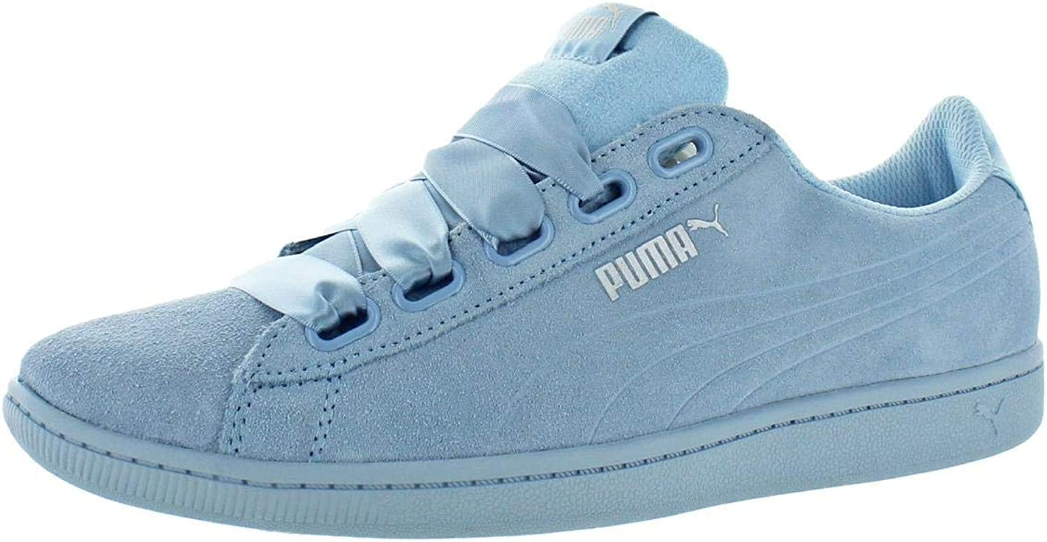 PUMA Womens Vicky Ribbon Suede Softfoam Fashion Sneakers