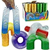 Liberty Imports Extra Long Magic Springs Novelty Toys - 6 inches x 2 inches Rainbow Super Coil Springs Party Favors Goody Bag Filler Prizes for Kids (Pack of 12)