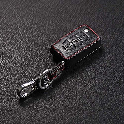FFHJHJ Funda de Cuero para Llave de Coche para Peugeot 107206207208306307308407408508 RCZ, para Citroen C2 C3 C4 C5 Good Key Bag, Negro