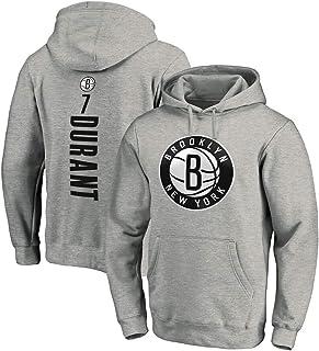 Men's Sports Jersey Brooklyn Nets #7 Kevin Durant Autumn Winter Sweater Basketball Long Sleeve Sweatshirt Casual Hooded Sw...