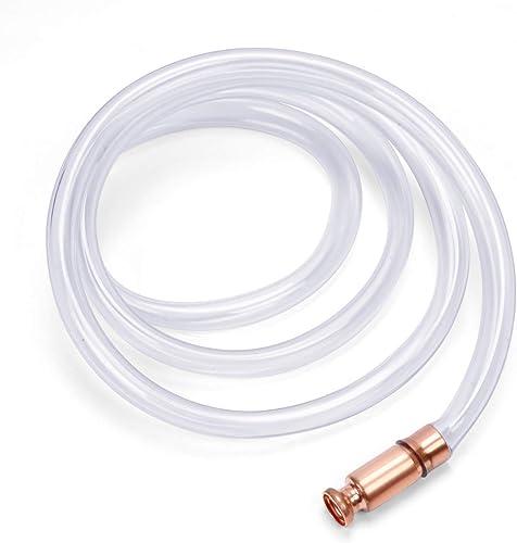 "wholesale HORUSDY Gas Siphon 6FT Multi-Purpose high quality Super Easy Siphon Pump,1/2"" Valve Virgin online Grade Tubing Safe (white) sale"