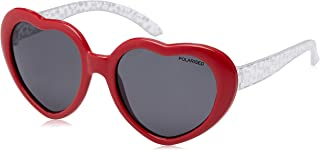 CANCER COUNCIL KIDS Girl'S Lovebug Sunglasses, Red Fantasy, 48 mm