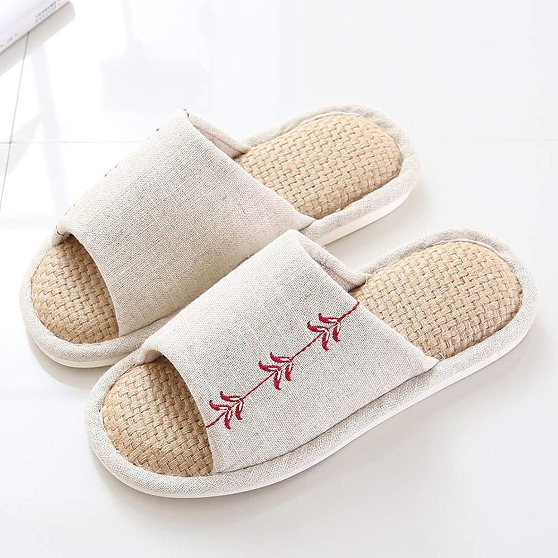 [オカ工房] スリッパ 室内 洗える 麻 前開き メンズ レディース カップル ペア 男女兼用 夫婦 家族 夏用 来客用 オールシーズン 春夏用 可愛い 和風 おしゃれ かわいい 健康スリッパ ベージュ すりっぱ slippers