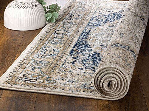 MADISON COLLECTION 401 Vintage Distressed Style Area Rug Clearance Soft Pile Durable Size Option , 1'.10'' x 7 ' hallway runner