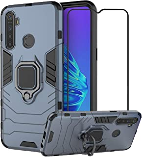 2ndSpring Case for Realme C3/5/5i/6i with Tempered Glass Screen Protector,Hybrid Heavy Duty Protection Shockproof Defender...