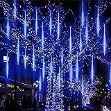 Luces de lluvia de meteoros, shsyue luces solares de caída con 30 cm 10 tubos 360 LEDs impermeables...
