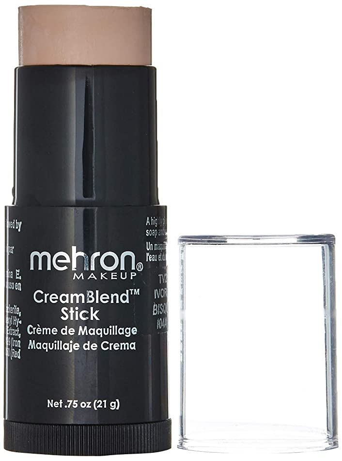 Mehron Makeup CreamBlend Stick, Ivory Bisque - .75oz