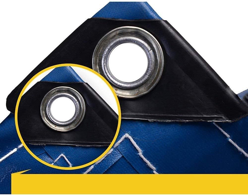 YUMUO Auvents Protection Solaire Bâche Grand Camion Toile de Pluie Toile PVC Toile de canopée étanche Épaissir à l'extérieur (Couleur: Bleu Taille: 2 * 2m) 8