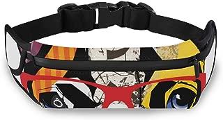 SKYDA French Bulldog Fanny Pack, Running Belt - Waist Pack Runners Belt Fitness Gear Accessories for Women and Men - Running Bag Pouch Phone Holder for iPhone Samsung(b)