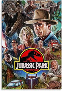 NIUASH Jurassic Park Movie KD Poster Decorative Painting Canvas Wall Art Living Room Posters Bedroom Painting 24×36inch(6...