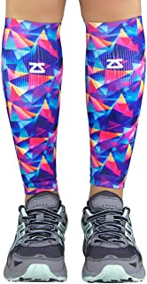 Zensah Unisex Limited Edition Compression Leg Sleeves Retro Triangles SMA///Medium