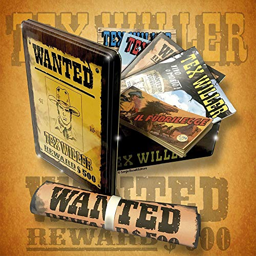 Tex Willer Wanted box. Con Poster