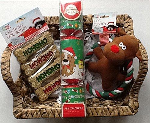 TheGiftbox Christmas Dog Treats hamper - snacks and toys