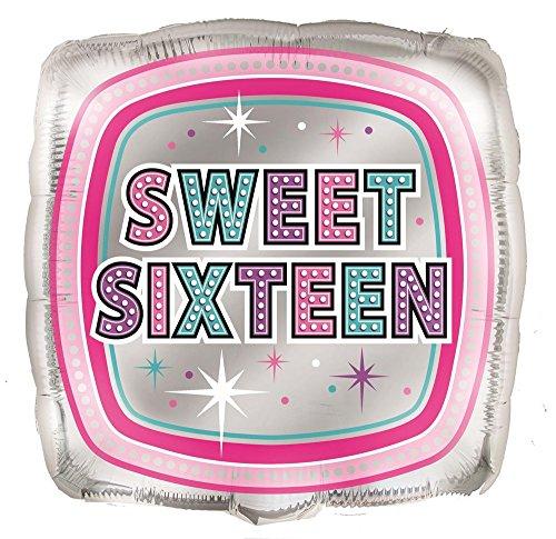 Unique Party Supplies 45,7cm Folie Sparkling Sweet 16Geburtstag Ballon