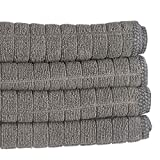 PantryPal Microfibre Tea Towels | Packs of 4 & Packs of 8 | 45cm x 65cm (Grey, 4)