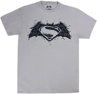 Batman vs Superman Bat-Made Logo Men's Silver Shirt