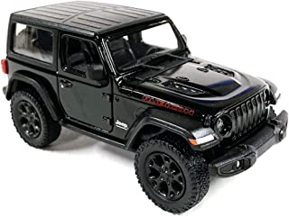Jeep Wrangler Rubicon 4x4 Hard Top Off Road Exploration Diecast Model Toy Car Black