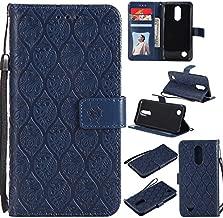 NEXCURIO LG K20 Plus / K20 V/Harmony/Grace LTE / K10 (2017) / V5 Wallet Case with Card Holder Folding Kickstand Leather Case Flip Cover for LG K20 Plus - NEYYO10626 Navy
