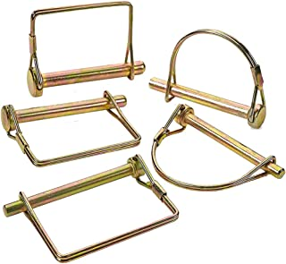 Katzco 5 Piece PTO Pin Assortment Set – for Safety Power Take-Off Assemblies, Automotive, Farm, Trailers, Wagons, Hitches, Couplers, Towing, Lawn, and Garden