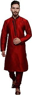 Indian Mens Exquisite Art Silk Readymade Kurta