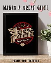 Harley Davidson- Classic HD Vintage Logo Print-