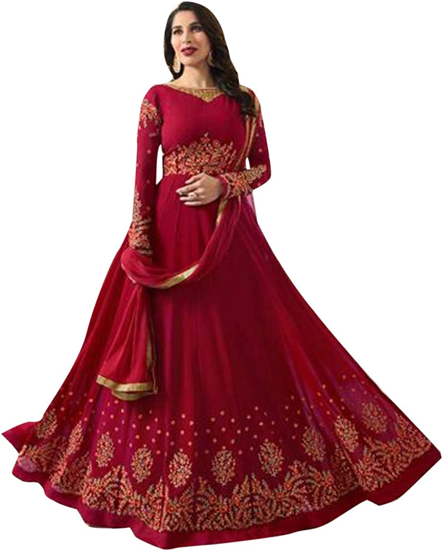 Ethnic Designer Anarkali suit Embroidery Festive Navratri Karva Chauth Diwali Bespoke Tailoring Available 7223 4