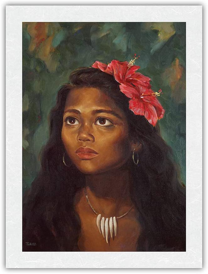 Young Native Girl from Hawaii - Max Limited time cheap sale 54% OFF Vintage Hawaiian Hula Dancers c.