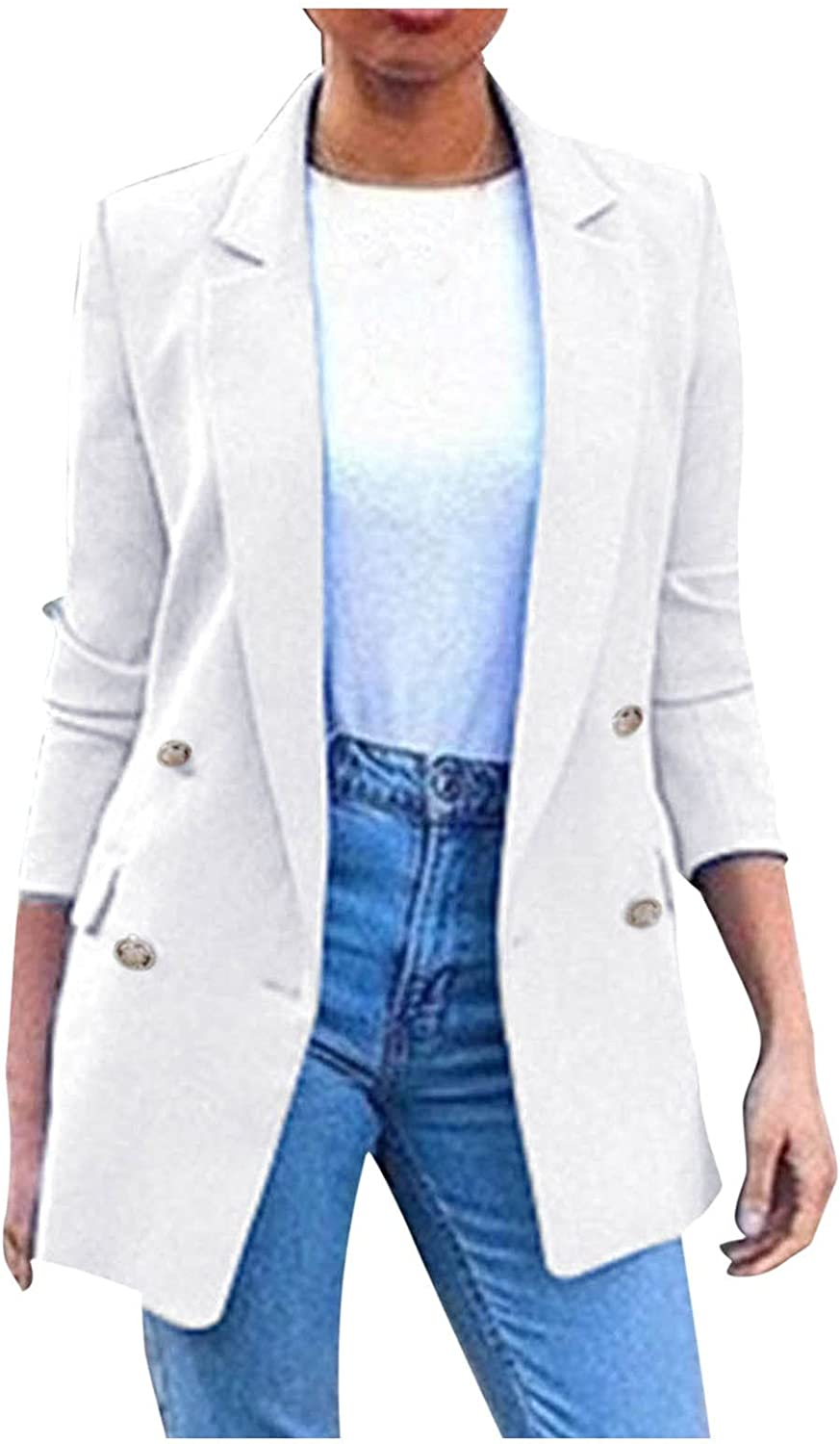 Changeshopping Cardigan for Women,Autumn Winter Solid Splice Long Sleeve Pocket Outerwear Loose Cardigan Jacket