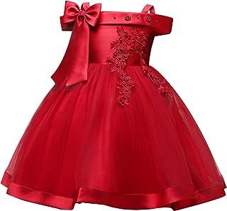 TTYAOVO Vestido de Princesa con Bordado sin Mangas para Niñas de Flores Fiesta de Dama de Honor de Boda Vestido de Fiesta ...