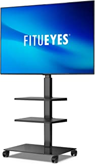 FITUEYES Floor TV Stand with Wheels for 32 to 60 Inch LCD LED Flat Curved Screens, Swivel and Height Adjustable with Cable...